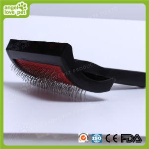 Spazzola di plastica dell'animale domestico di modo della maniglia (HN-PG235)