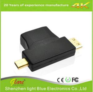 + Micro mini HDMI hembra conector HDMI a HDMI Oro