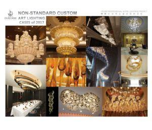 Iluminación de Encargo No Estándar Decorativa Interior del Arte para el Hotel (NSC)