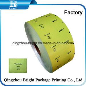 De aluminio laminado de la película PE/papel de logotipo personalizado Alcohol papel pastillas Prep.