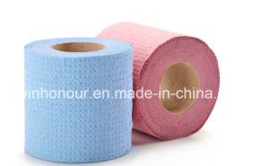 Le papier hygiénique papier & du rouleau de papier tissu tissu & salle de bains et un papier de soie
