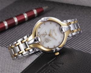 Relógios de pulso de quartzo do presente das senhoras da liga do projeto do seletor da folha de Belbi