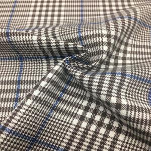 Os fios Tingidos Poli Rayon Spandex Plaid para roupa