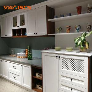 Agitador branca pura cozinha de madeira armário para pendurar