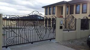 منزل فائرة حديثة حديد درب بوّابة تصاميم
