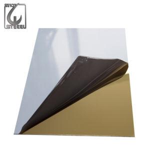 Strato dorato dell'acciaio inossidabile dello specchio del Ti decorativo 304 dell'elevatore