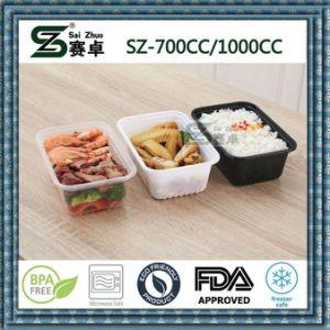 700cc Microwaveable&Congelador Contenedor de almacenamiento de Comida de plástico