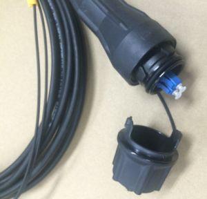 Câble équipé extérieur de LC pour Ericsson Rru, avec le câble Gyfjh 2b1 (LSZH), le câble fibre optique imperméable à l'eau de 4.8mm/de 7.0mm