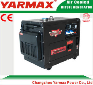 冷却される5kVA Ym9000t Ym190の移動式ディーゼル発電機の無声タイプ空気