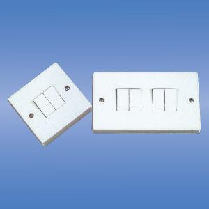 10AMP 2 Gang 2 Way Push Button Light Wall Switch (MKスイッチ)