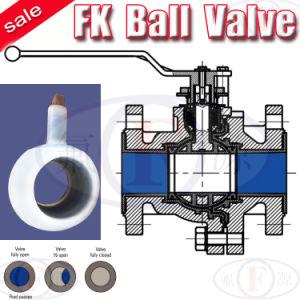 Chemical ANSI (FK)のためのフランジPFA Lined Ball Valve