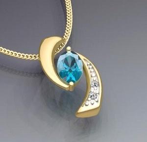 pendente dell'oro giallo 10K con il diamante (LPG1062)