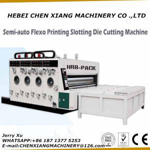 Alimentador de Corrente 2 Cores Impressora de Papelão Ondulado Slotter e Cortador de chip