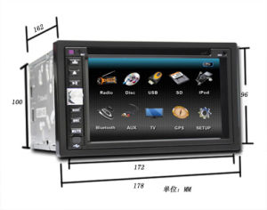 6,2-дюймовый двух DIN DVD/GPS/Tmc/Bluetooth (он-7011)
