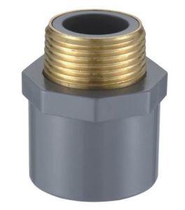 CPVC ASTM Sch80の管付属品の男性カップリング(銅の糸) (S66)