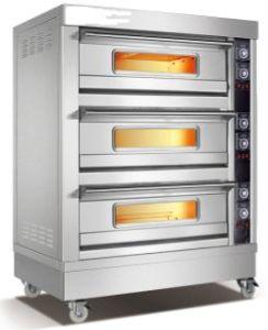 De commerciële Elektrische Oven van het Roestvrij staal met Ce- Certificaat 3 Dek 6 Dienblad (wfc-306D)