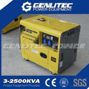 Resfriado a ar do cilindro único gerador diesel silenciosa 5KW