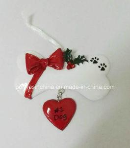 Het Ornament van Kerstmis van de Hond van het Huisdier van Polyresin