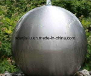 Großes Edelstahl-Kugel-Metallhängendes Haarstrichende, das Kugel mit Mattoberfläche 500mm 700mm 900mm anstarrt