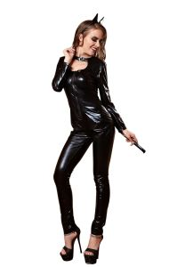 Tentant Sexy femmes Cosplay adulte Fancy dress Robe Queen Cat Ear