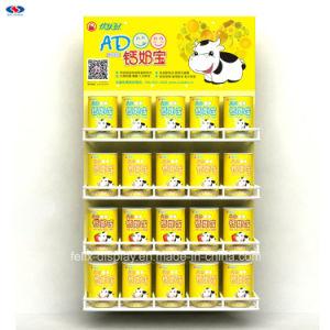 금속 프레임 선전용 유아 공식 아기 우유 분말 금속 거는 진열대 광고
