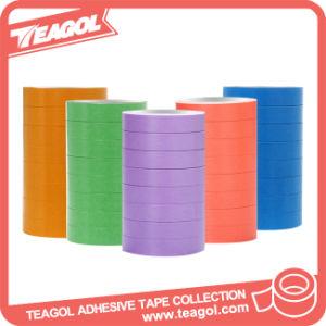 Cinta cinta adhesiva, cinta de enmascarar de papel crepé de colores