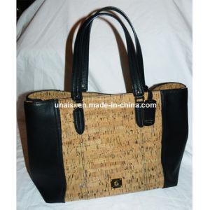 53000fa2d Corcho personalizada cuero pu señoras bolso con cremallera Cierre ...