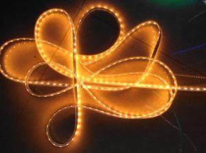 El color amarillo SMD3528 SMD5050 de la luz de banda de baja tensión