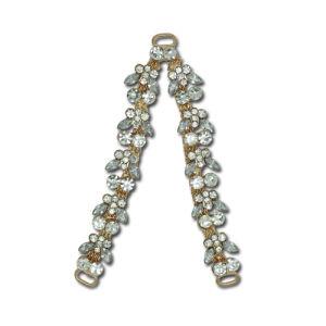 Mode sandale de boucle en métal doré, sac à main les garnitures, accessoires du vêtement