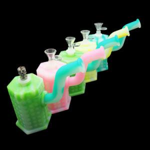 China precio competitiva de la fábrica de hierba de cera silicona botella lavagases DAB con LED y el titanio