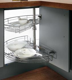 Mobília de madeira modular de madeira de alto brilho em forma de L em forma de porcelana (OP14-125)