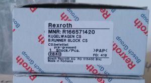Bloque de la deslizadera Rexroth R166571420 lineal de la guía lineal el bloque deslizante