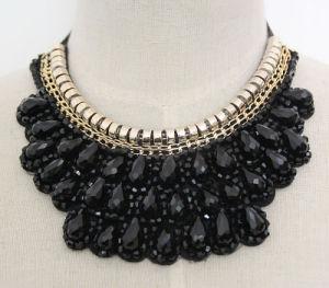 Ювелирные изделия ожерелья Handmade сплава Costume способа шарика кристаллический привесные (JE0001)