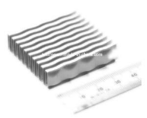 構築機械装置のアルミニウム熱交換器オイルクーラーのひれ