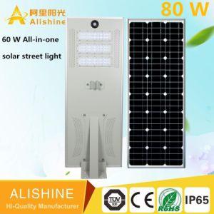 Neuer Entwurf mit dem heißen Verkauf im Regierungs-Projekt einteiligen Solar-LED Lichtes des 80 w-