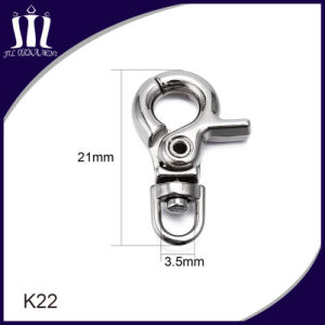 Material de aleación de moda K22 pequeño gancho cordón