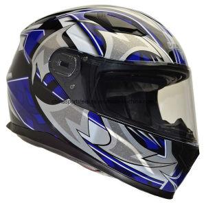 ECE/DOT Helm van de Motorfiets van de Sporten van de Gesp van de Versie van de Kleur van het overdrukplaatje de Snelle