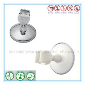 Tipo potente supporto di aspirazione della testa di acquazzone della stanza da bagno fissato al muro
