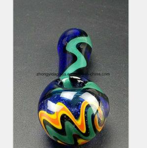 Blaues Glaswasser-Rohr der Flamme Huka-Filter-Wiederanlauf formend