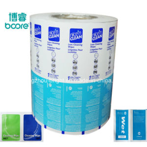 Precio al por mayor de la fábrica de aluminio laminado de embalaje de papel de embalaje para el Alcohol la almohadilla de Prep.