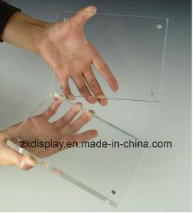 小さく支えがない磨かれた明確なアクリル磁気映像の写真フレーム
