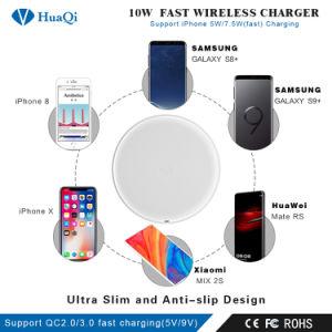 Qi integrados de telefonía inalámbrica rápida cargador para iPhone/Samsung o Nokia y Motorola/Sony/Huawei/Xiaomi