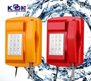 Im Freien Emergency Telefon-starkes wasserdichtes Telefon-industrielles an der Wand befestigtes Telefon Knsp-18