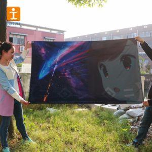 Термосублимационная печать полиэфирная ткань баннер с силиконовым кромки