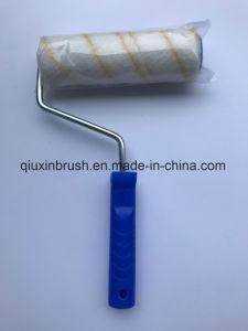 Rullo di vernice giallo della fibra acrilica della banda della fabbrica con la maniglia di plastica