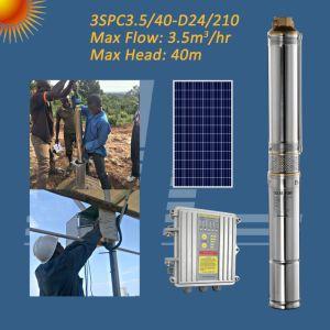 200W 3pouce avec pompe CC sans balai solaire MPPT, contrôleur de pompe d'irrigation solaire