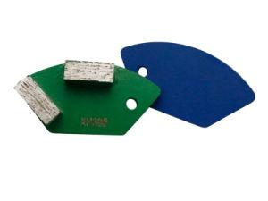 Tipo abrasivo disco del rilievo di molatura del diamante per il pavimento di calcestruzzo