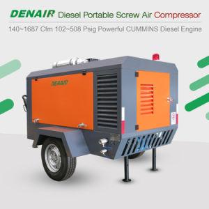 산업 2단계 디젤 엔진 - 몬 휴대용 회전하는 나사 유형 공기 압축기