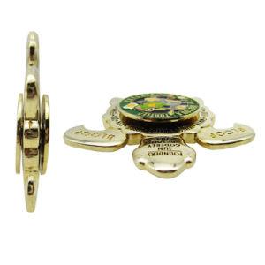 Moneta in lega di zinco su ordinazione di sfida dello smalto della tartaruga dell'oro del ricordo (130)