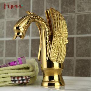 Tapkraan van de Zwaan van het Handvat van Fyeer de Enige Goud Geplateerde